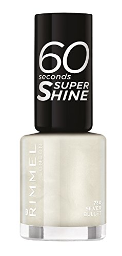 Rimmel London - 60 Seconds Supershine, Smalto per unghie ultra brillante, N. 730 Silver Bullet