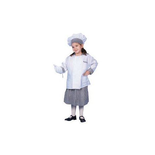 Pretend Deluxe Girl Chef w/ Skirt Child Costume Dress-Up Set Size 16-18