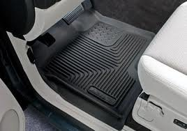 Husky X-act Contour 2007-12 GMC Sierra Crew/Ext Cab (Not Chassis Cab) Front Floor Liners -Black-