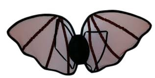 Red Tulle Bat Wings (Adult One Size)