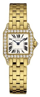 Cartier Santos Demoiselle 18kt Yellow Gold Diamond Ladies Watch WF9001Y7