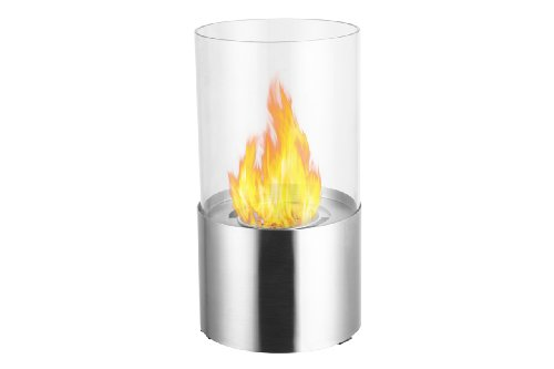 Ignis Circum Stainless Steel Tabletop Ventless Ethanol Fireplace