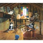 American Puzzles, Kittens in the Attic Puzzle, 550 Pieces Puzzle