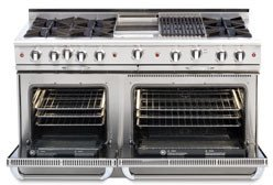 Gas Range With Electric Double Oven