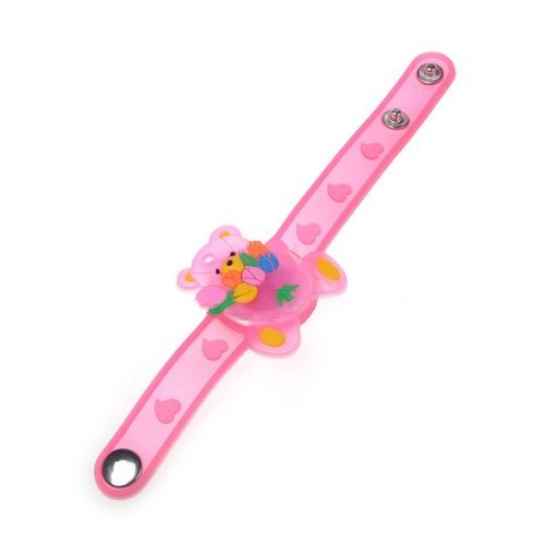 Red Shifting Gear Panda LED Flashing Light Bracelet for Disco