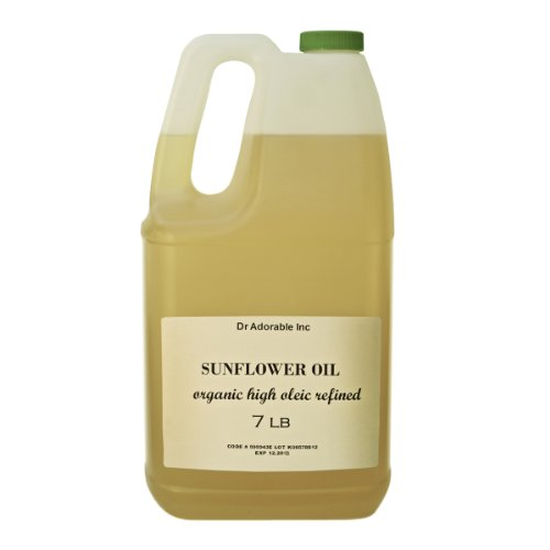 Refined Sunflower Oil High Oleic Organic 100% Pure 128 Oz / 7 Lb / One Gallon front-930122