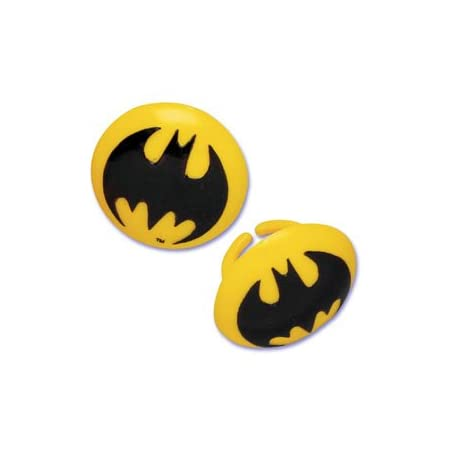 Create Batman Cupcake with these Batman Party Rings. Use for party favors. 12 per package.