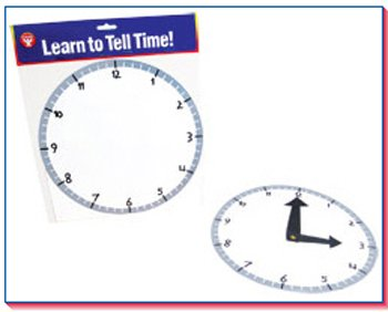 Hygloss Products Inc. Blank Clock Kit 24 Clocks