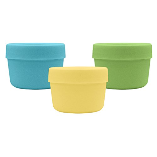 green sprouts Sprout Ware Snack Cup, Aqua Assortment, 6 Count