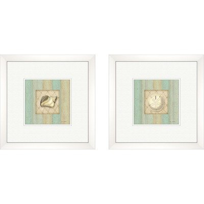 Coastal Conch Framed Art (Set of 2)