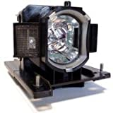 Replacement projector lamp DT01022 / CPRX80LAMP / 456-8787 with housing fits Hitachi CP-RX70W / CP-RX78 / CP-RX78W / CP-RX80 / CP-RX80W / ED-X24 ; Dukane ImagePro 8787 projectors