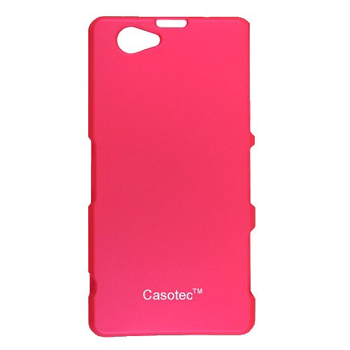 Casotec Ultra Slim Hard Shell Back Case Cover for Sony Xperia Z1 Compact - Hot Pink  available at amazon for Rs.149