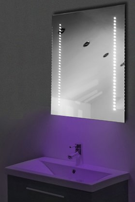 Ambient Ultra-Slim Led Bathroom Mirror With Demister Pad & Sensor K59U