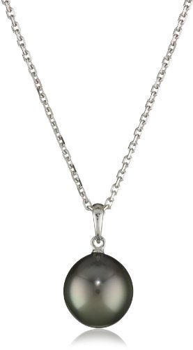 TARA Pearls 10X11mm Tahitian Pearl 14 Karat White Gold Pendant Necklace