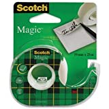Brand New. Scotch Magic Tape on Dispenser 19mmx25m Ref 8-1925D