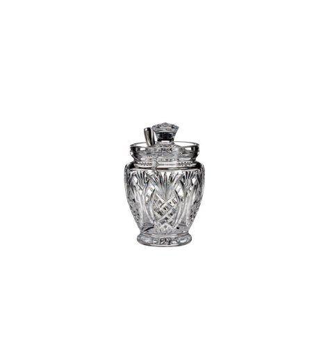 Waterford Crystal Pineapple Hospitality Sauce Jar With Spoon