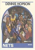 Dennis Hopson New Jersey Nets 1989 Hoops Autographed Hand Signed Trading Card - Nice... by Hall+of+Fame+Memorabilia
