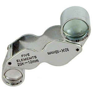 20X 10X 'Butterfly' Loupe Magnifier Jewelers Gem Optics ..... Best Seller on Amazon!