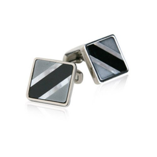 Jewelry Mountain Semi-Precious Titanium Cufflinks