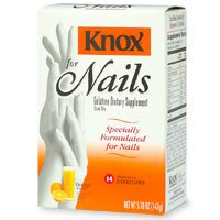 Hair & Nail Supplements: Knox Gelatin Dietary Supplement Drink Mix ...