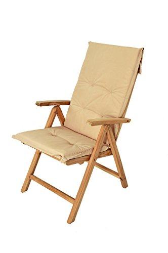 Stuhlauflage-fr-Hochlehner-Garten-Stuhl-Auflage-Farbe-beige-Sitzkissen-fr-Garten-Mbel-Balkon-Stuhl-Sitzauflage-Polster-fr-Terrassen-Stuhl-waschbar
