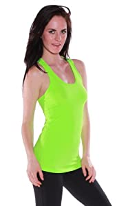 Emmalise Women's Athletic Gym Workout Racerback Tank Top Soft Lite