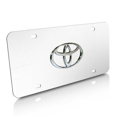 Pilot Universal Dodge Logo 3D Logo Chrome Stainless Steel License Plate