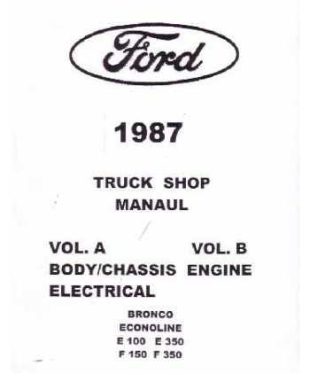 1987 ford f150 wiring diagram 1987 image wiring ford f150 1987 ford truck f150 f350 econoline service manual on 1987 ford f150 wiring diagram
