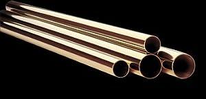 Bar Rail Polished Solid Brass Tubing RSF 2'' Dia X 8 Ft L