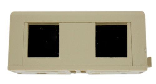 Leviton 42046-Ida Surface Mount Jack Kit, 6P6C X 6P6C, 110-Style, Ivory