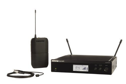 Shure Blx14R/W93 Wireless Presenter Rack Mount System With Wl93 Lavalier Microphone, H8