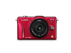 Panasonic Lumix DMC-GF2 12 MP Micro Four-Thirds Interchangeable Lens Digital Camera with 3.0-Inch Touch-Screen LCD and 14mm f/2.5 G Aspherical Lens (Red)