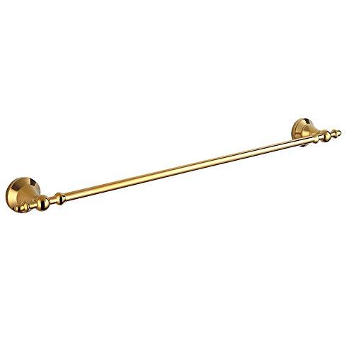 ownace-Gold Messing Wand montiert Bademantel Haken Einzel Handtuch Bars Doppel Handtuch Regal Tissue Rollenhalter WC-Bürstenhalter Glas Regal Zahnbürste Halter, Single Towel Bar