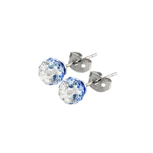 Tresor Paris Armix Blue Crystal Earrings 6mm