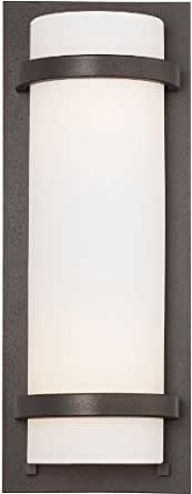 "Minka Lavery Wall Sconces 341-172 Glass 2 Light 200 watt (17""H x 6""W) Sconce Lighting in Iron"