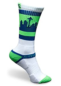 Strideline SEATOWN White Hawks Athletic Crew Socks, One Size