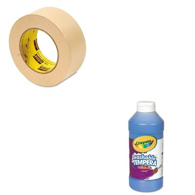 KITCYO543115042MMM2342 - Value Kit - Scotch General Purpose Masking Tape 234 (MMM2342) and Crayola Artista II Washable Tempera Paint (CYO543115042) kitmmmc60stpac103637 value kit scotch value desktop tape dispenser mmmc60st and pacon riverside construction paper pac103637