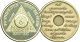 6 Month Bronze AA (Alcoholics Anonymous) - Sober / Sobriety / Birthday / Anniversary / Recovery / Medallion / Coin / Chip