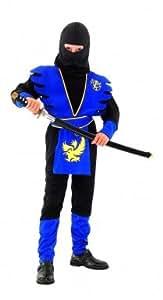 Ninja-Kostüm blau für Jungen - 11-14 Jahre