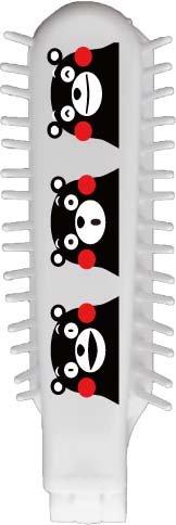 折りたたみブラシ 白 くまモン KMー551