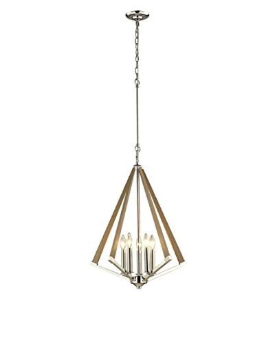 Artistic Lighting Madera Collection 5-Light Pendant, Polished Nickel