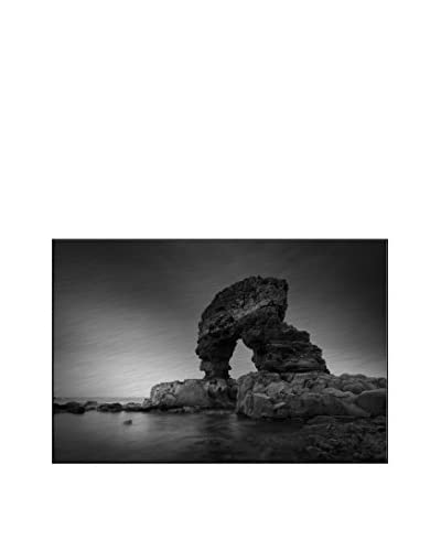Rock Arch On The Coast  Photography On Mounted Metal