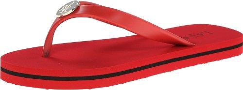 Lauren Ralph Lauren Women's Elissa II Flip Flop,Bright Red/Blue,7 B US
