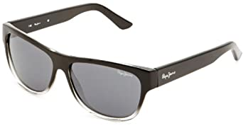 Pepe Colton Wayfarer Men's Sunglasses Black/Clear One Size