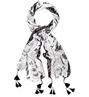 Indigo Collection Lightweight Butterfly Print Scarf