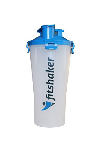 Fitshaker - Dual Threat Bottle , 28 Ounces Sky Blue Protein Shaker for Gym Fitness