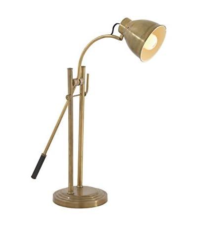 Sturdy Metal Task Lamp, Faded Gold