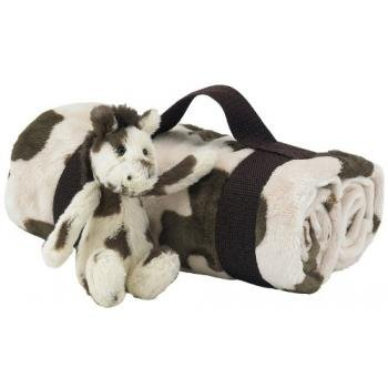 Jellycat Jellykitten Bashful Pony Horse Blanket Travel Set - Plush Stuffed Animals front-856936