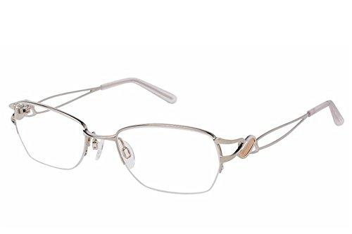 Charmant Eyeglasses TI12104 TI/12104 WP White Half Rim Optical Frame 51mm (Charmant Eyeglass Frames compare prices)