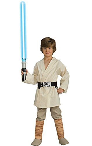 Boys Luke Skywalker Deluxe Kids Child Fancy Dress Party Halloween Costume